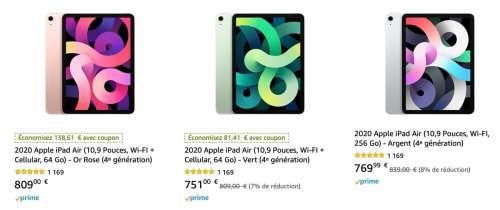 Promo : l'iPad Air 64Go cellulaire à 669€ (-140€), le Pencil 2 à 116€