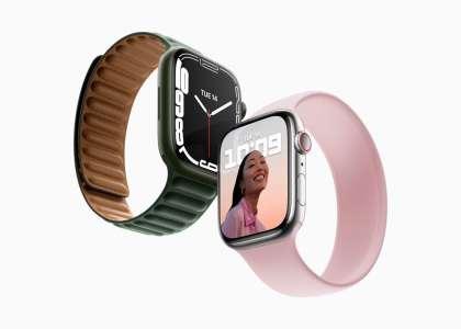 L'AppleWatch Series 7 ressemble beaucoup à une Series 6, en plus grand