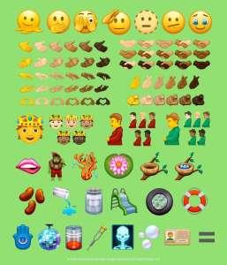 Unicode valide l'intégralité de la liste annuelle des nouveaux émojis