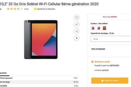 L'iPad d'entrée de gamme se met en rupture de stock