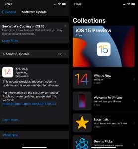 Apple propose aux utilisateurs d'iOS 14 de découvrir iOS 15