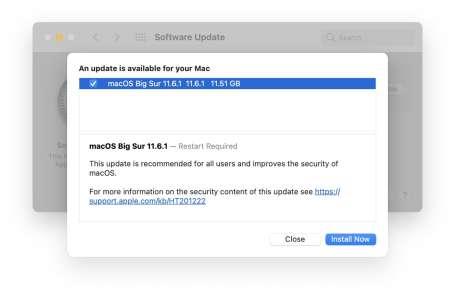 À venir : macOS 11.6.1, mise à jour de sécurité pour macOS Catalina et Safari 15.1