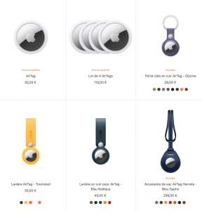 AirTag : nouvelles couleurs pour les accessoires Apple et Hermès