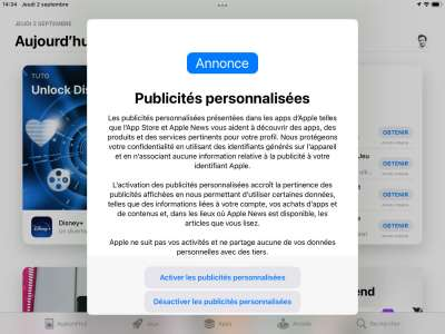 France Digitale se félicite du revirement d'Apple sur les pubs personnalisées de l'AppStore