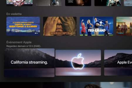L'app AppleTV déjà prête pour «California Streaming»