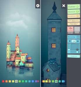 Townscaper permet de créer sa ville colorée sur iPhone ou iPad
