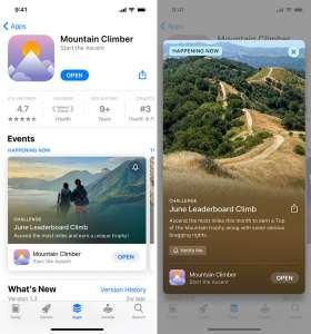 Les «événements in-apps» apparaitront dans une semaine sur l'App Store
