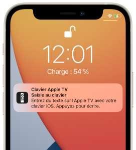 iOS 15.1 restaure la possibilité de désactiver la notification tvOS du clavier virtuel