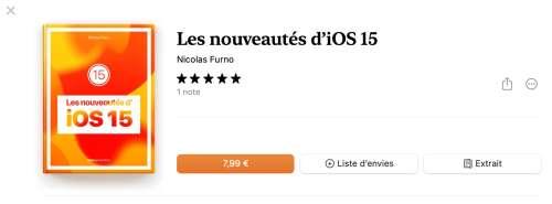 Les nouveautés d'iOS 15 en vente sur Apple Books !