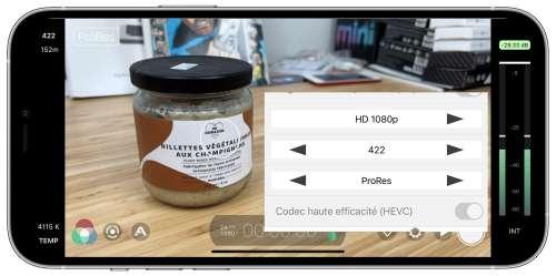 Sans attendre Apple, FiLMiC Pro filme déjà en ProRes sur l'iPhone 13 Pro