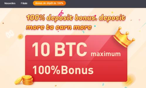 Bexplus lance un bonus de dépôt de 100 % pour accueillir les nouveaux utilisateurs et offre un effet de levier x100 pour le trading de crypto-monnaies.