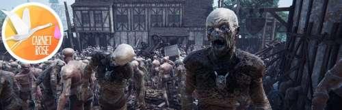 Carnet rose - The Black Masses, une île médiévale avec des milliers de copains morts-vivants