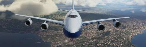 X019 londres - Microsoft Flight Simulator survole le X019