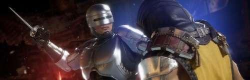 Évidemment, Mortal Kombat 11 Aftermath fait sa promo avec un combat RoboCop contre Terminator