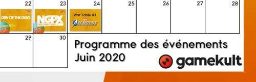 Agenda des conférences JV de juin : les dates et les heures résumées en une seule image