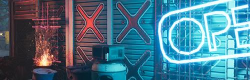 Ghostrunner découpe et virevolte sur fond de cyberpunk