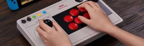 8BitDo présente son nouveau stick arcade modulable pour Switch et PC
