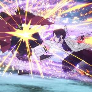 Shinobu papillonne dans Demon Slayer : Hinokami Keppûtan