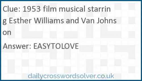 1953 film musical starring Esther Williams and Van Johnson crossword answer