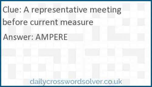 A representative meeting before current measure crossword answer