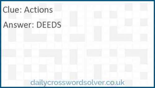 Actions crossword answer