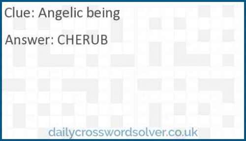 Angelic being crossword answer