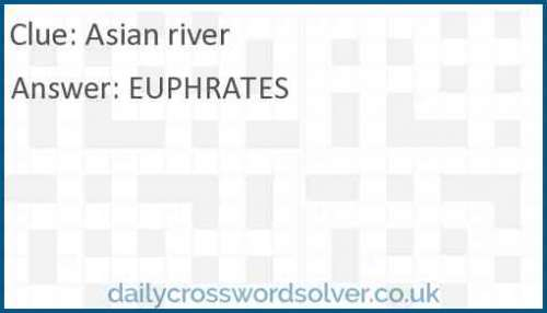 Asian river crossword answer