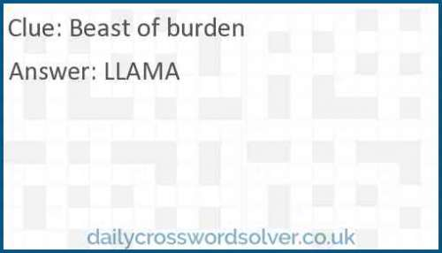 Beast of burden crossword answer