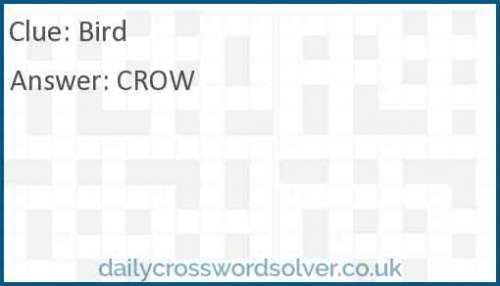 Bird crossword answer