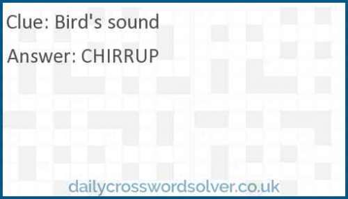 Bird's sound crossword answer