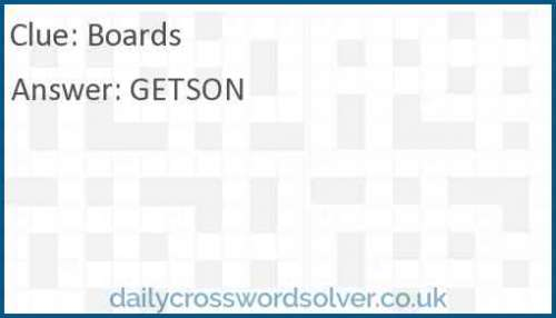 Board Crossword Answer Solutions De Jeux