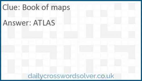 Book of maps crossword answer