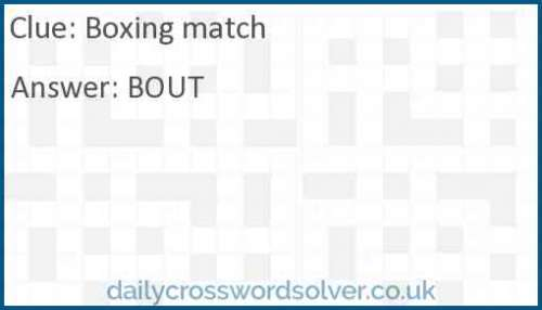 Boxing match crossword answer