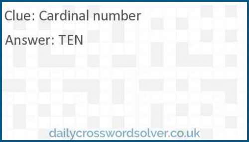 Cardinal number crossword answer