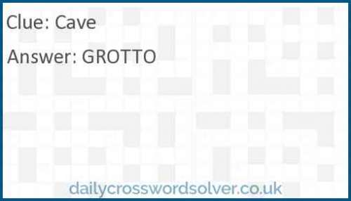 Cave crossword answer