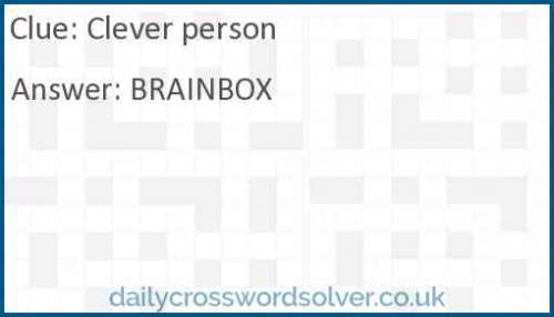 Clever person crossword answer