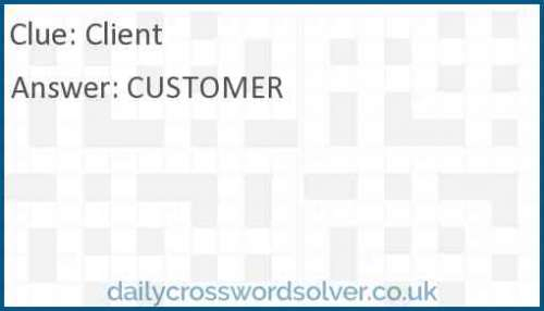 Client crossword answer