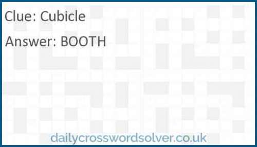 Cubicle crossword answer