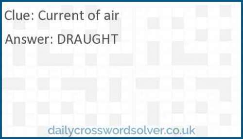 Current of air crossword answer