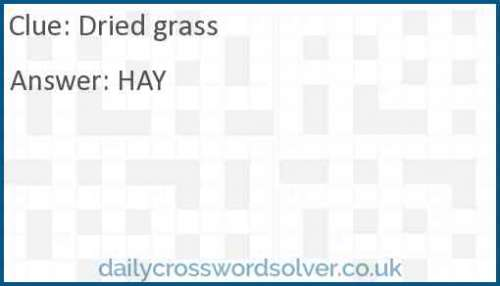 Dried grass crossword answer