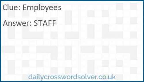 Employees crossword answer