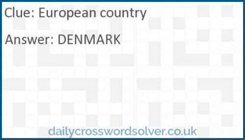 European country crossword answer