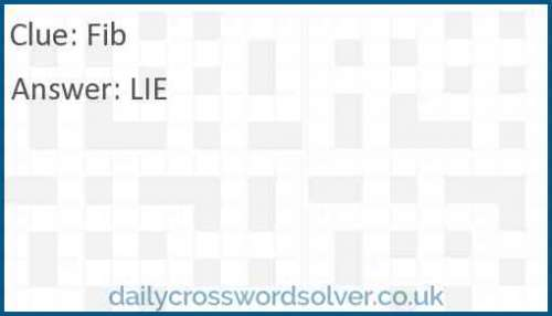 Fib crossword answer