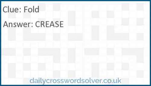 Fold crossword answer