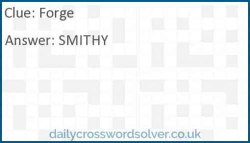 Forge crossword answer