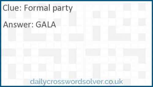Formal party crossword answer