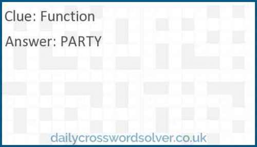 Function crossword answer