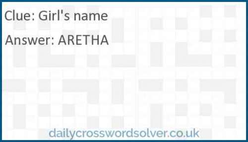 Girl's name crossword answer
