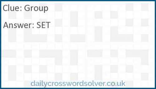 Group crossword answer