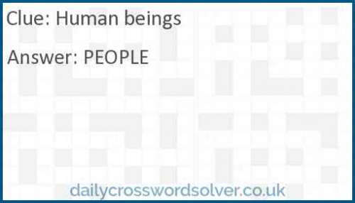 Human beings crossword answer